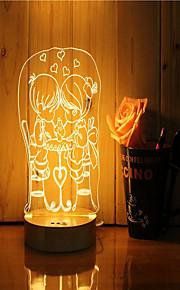 1 סט של 3D מצב הרוח לילה יד קלה להרגיש dimmable USB מופעל מתנה מנורה זוג מתוק