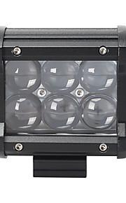 18w6000kLED White Spotlight30/Floodlight60/Mixedlight 60/30 2-Rows Roof Light for Car/Boat/Headlight 10-30VDC