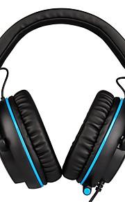 SADES R3 머리띠 유선 헤드폰 동적 플라스틱 게임 이어폰 볼륨 컨트롤 마이크 포함 헤드폰