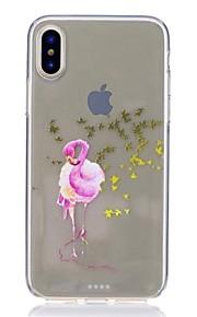 hoesje Voor Apple iPhone X iPhone 8 Schokbestendig Ultradun Patroon Achterkant Flamingo Zacht TPU voor iPhone 8 Plus iPhone 8 iPhone SE/5s