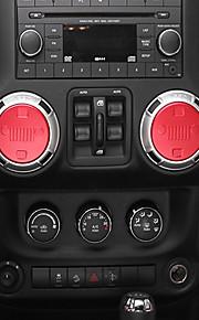 Automotive Sound Knob DIY Car Interiors For Jeep 2011 2012 2013 2014 2015 2016 2017 Wrangler Aluminium Alloy