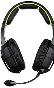 SADES SA-807 머리띠 유선 헤드폰 동적 플라스틱 게임 이어폰 마이크 포함 헤드폰