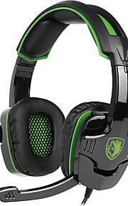 SADES SA-930 머리띠 유선 헤드폰 동적 플라스틱 게임 이어폰 마이크 포함 헤드폰
