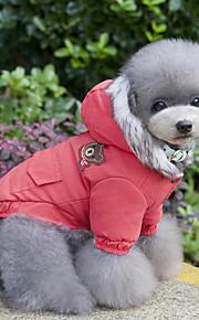 Kat Hund Frakker Hættetrøjer Jumpsuits Kjoler Hundetøj Afslappet/Hverdag Hold Varm Sport Nytår Dyr Rød Blå Kostume For kæledyr