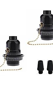 풀 체인 스위치와 2pcs e26 e27 베이 클 라이트 기본 전구 소켓 램프 홀더 빈티지 에디슨 펜 던 트 DIY