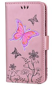 tok az érintésre 5 6 kártyatartó pénztárca állvánnyal flip teljes testes pillangó csillogás ragyog kemény pu bőr fou touch 5 6