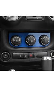 Automotive Center Stack Covers DIY Car Interiors For Jeep 2011 2012 2013 2014 2015 2016 2017 Wrangler Plastic