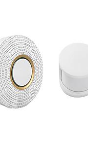 trådlös dörrklockarmarmsäkerhet 110-220v 52 ringsignaler (ir dörrklocka& 433mhz mänsklig sensor)