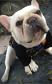 Dog Shirt / T-Shirt Dog Clothes Casual/Daily Animal Black Costume For Pets