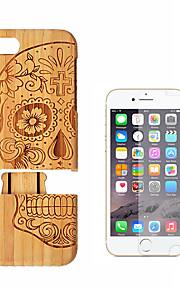 hoesje Voor Apple iPhone 8 Plus iPhone 7 Plus Schokbestendig Achterkant Houtnerf Hard Bamboe voor iPhone 8 Plus