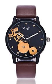 Mulheres Relógio Elegante Relógio de Moda Relógio Casual Chinês Quartzo Relógio Casual PU Banda Casual Fashion Preta Marrom Verde