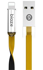 תאורה מתאם כבל USB תשלום מהיר מהירות גבוהה שטוח כבל עבור iPhone 120 cm TPE