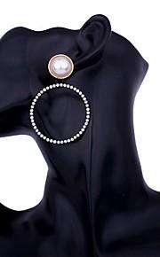 Damskie Kolczyki wiszące Rhinestone Metaliczny Na co dzień Modny Stop Circle Shape Biżuteria Impreza / bal Ulica Biżuteria kostiumowa