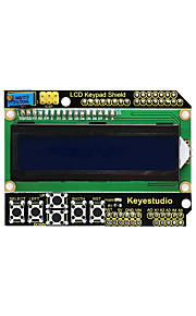 Keyestudio 1602LCD Keypad Shield For Arduino LCD Display ATMEGA2560 For Raspberry Pi UNO Blue Screen Blacklight Module