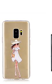 ケース 用途 Samsung Galaxy S9 S9 Plus 半透明 バックカバー セクシーレディ ソフト TPU のために S9 Plus S9 S8 Plus S8 S7 edge S7