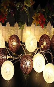 1.5m Cordões de Luzes 10pcs LEDs Branco Quente Decorativa Baterias AA alimentadas 1pç