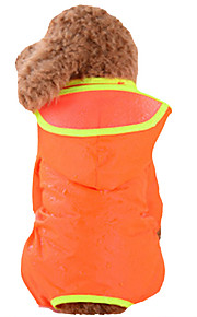 Dog Rain Coat Dog Clothes Solid Colored Green / Blue / Pink Nylon Costume For Pets Summer Men's / Women's Waterproof