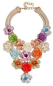 Dame Overdimensionerede Y-Halskæder - Klassisk Overdimensionerede Mode Blomst Regnbue 49cm Halskæder Til Ceremoni Aftenselskab