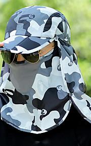 Hoed / Face Mask Zomer Lichtgewicht / Sneldrogend / UV-bestendig Wandelen / Vissen / Reizen Unisex Polyester camouflage