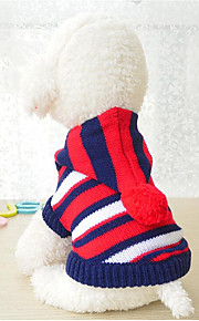 Dogs / Cats Sweater Dog Clothes Striped / Color Block Stripe Acrylic Fibers Costume For Pets Male / Female Stripes / Casual / Sporty