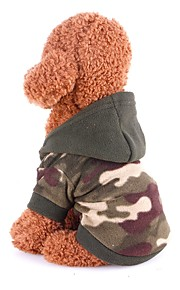 Rodents / Dogs / Cats Coat / Sweater / Jumpsuit Dog Clothes Classic Camouflage Color Polar Fleece Costume For Pets Female Sports & Outdoors / Stylish