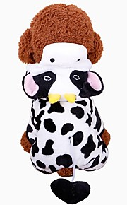 Rodents / Dogs / Cats Coat / Sweatshirt / Tuxedo Dog Clothes Animal Black / White 100% Coral Fleece Costume For Pets Female Sports & Outdoors / Animals