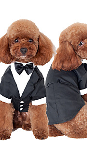 Cat Dog Tuxedo Dog Clothes Bowknot Black Cotton Costume For Pets Men's Cute Cosplay Wedding