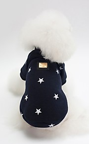 Dogs Sweatshirt Dog Clothes Character / Stars Dark Blue / Pink Cotton Costume For Pets Unisex Sweet Style / Warm Ups