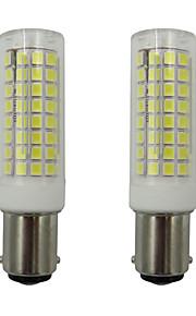 2pcs 5 W 460 lm BA15D Bombillas LED de Mazorca 102 Cuentas LED SMD 2835 Blanco Cálido / Blanco Fresco 110-130 V
