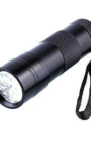 D09UV-1-0-1 פנסי תאורת אולטרה סגול LED 1 מצב תאורה עמיד במים / אור אולטרה סגול מחנאות / צעידות / טיולי מערות / שימוש יומיומי / ציד שחור