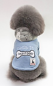 Dogs Coat Dog Clothes Character / Bone / Slogan Red / Blue Plush Costume For Pets Unisex Casual / Daily / Warm Ups