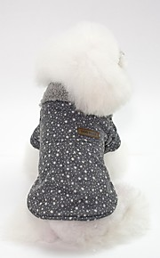 Dogs Coat Dog Clothes Simple / British Gray / Pink Cotton Costume For Pets Unisex Japan and Korea Style / Warm Ups