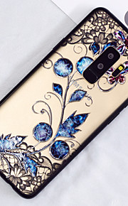Case For Samsung Galaxy S9 Plus / S9 Translucent / Pattern Back Cover Flower Hard PC for S9 / S9 Plus / S8 Plus