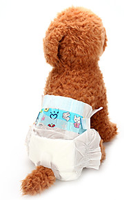 Dogs Health Care / Pants / Cleaning Dog Clothes Solid Colored White Cotton Blend / Nonwoven Costume For Pets Unisex Animals / Ordinary