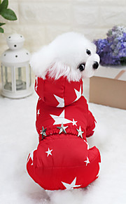 Dogs / Cats Coat Dog Clothes Stars Dark Blue / Fuchsia / Red Cotton Costume For Pets Unisex Keep Warm / Trendy