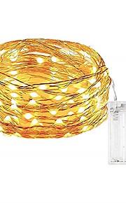 5m شرائط قابلة للانثناء لأضواء LED 50 المصابيح مصلحة الارصاد الجوية 0603 أبيض دافئ / أبيض / لون متعدد ضد الماء / حزب / ديكور بطاريات آ بالطاقة 1PC