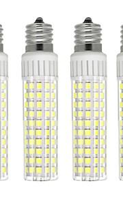 4pcs 8.5 W 1105 lm E17 Bombillas LED de Mazorca T 125 Cuentas LED SMD 2835 Regulable Blanco Cálido / Blanco Fresco 220 V