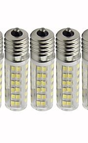 5 stuks 4.5 W 450 lm E17 LED-maïslampen T 76 LED-kralen SMD 2835 Dimbaar Warm wit / Koel wit 110 V