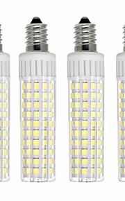 4pcs 8.5 W 1105 lm E14 Bombillas LED de Mazorca T 125 Cuentas LED SMD 2835 Regulable Blanco Cálido / Blanco Fresco 220 V