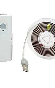 BRELONG® 1.5 m Elastyczne taśmy LED 45 Diody LED SMD3528 Ciepła biel Wodoodporny / USB / Dekoracyjna 5 V 1 szt.