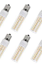 6pcs 7.5 W 937 lm E17 Bombillas LED de Mazorca T 100 Cuentas LED SMD 2835 Blanco Cálido / Blanco Fresco 85-265 V