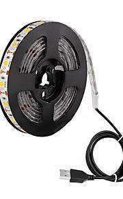 ZDM® 2m Tiras LED Flexibles 120 LED 5050 SMD Blanco Cálido / Blanco Fresco / Rojo Impermeable / USB / Adecuadas para Vehículos 5 V / Alimentado por USB 1pc