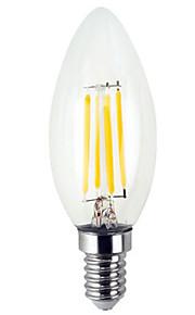 YWXLIGHT® 1pc 4 W 300-400 lm E12 LED-kaarslampen / LED-gloeilampen C35 4 LED-kralen SMD Creatief Warm wit / Koel wit 110-130 V