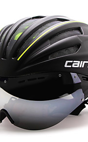 CAIRBULL بالغين خوذة دراجة مع نظارات واقية خوذة هوائية 28 المخارج CE EN 1077 Impact Resistant  تهوية شبكة حشرات EPS الكمبيوتر الشخصي رياضات دراجة الطريق - أحمر أخضر أزرق / مصبوبة بشكل تكاملي