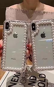 tok Για Apple iPhone XR / iPhone XS Max Στρας / Διαφανής Πίσω Κάλυμμα Μονόχρωμο Σκληρή TPU για iPhone XS / iPhone XR / iPhone XS Max