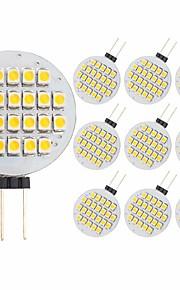 3 W LED Φώτα με 2 pin 300 lm G4 24 LED χάντρες SMD 2835 Διακοσμητικό Θερμό Λευκό 12 V, 10pcs