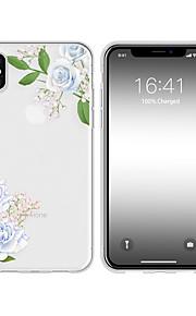 Кейс для Назначение Apple iPhone X / iPhone XS Max С узором Кейс на заднюю панель Цветы Мягкий ТПУ для iPhone XR / iPhone XS Max / iPhone X