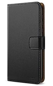 Кейс для Назначение Nokia Nokia 5 Бумажник для карт / со стендом / Флип Чехол Однотонный Твердый Кожа PU для Nokia 5