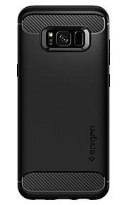 Кейс для Назначение SSamsung Galaxy S8 Plus Защита от удара Кейс на заднюю панель Однотонный / броня Твердый ТПУ для S8 Plus