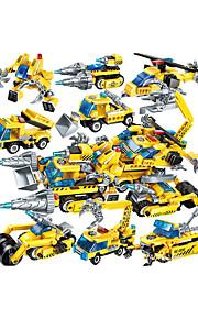 Конструкторы 1 pcs совместимый Legoing Ручная работа Полицейская машинка Вертолет Все Игрушки Подарок